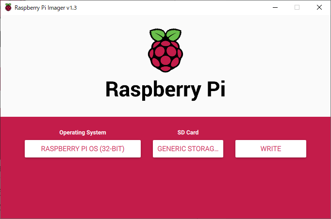 Raspberry Pi Imager の SDカード選択後の画面