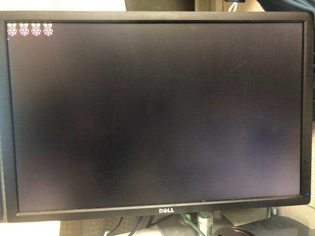 Raspberry Pi の OS起動中